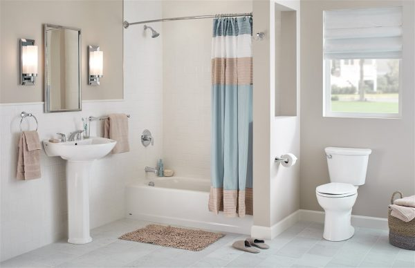luxury bathroom for small space - new home construction